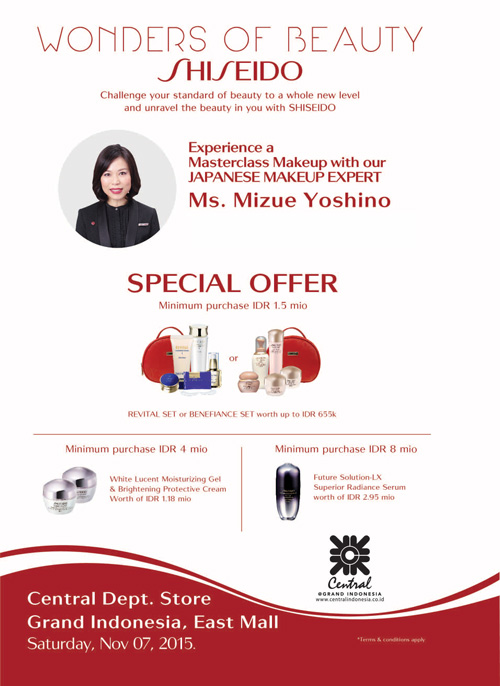 Shiseido Central Department Store Indonesia